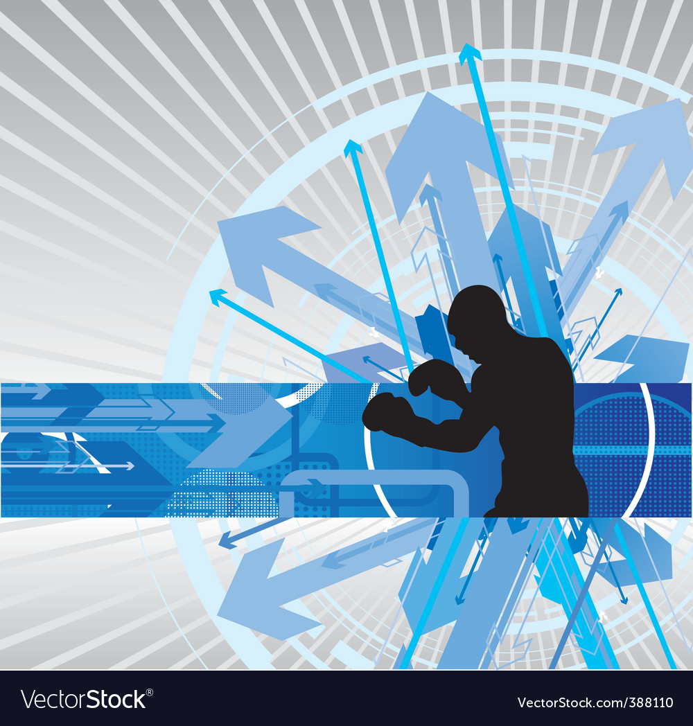 Boxing arrow background vector | Price: 1 Credit (USD $1)