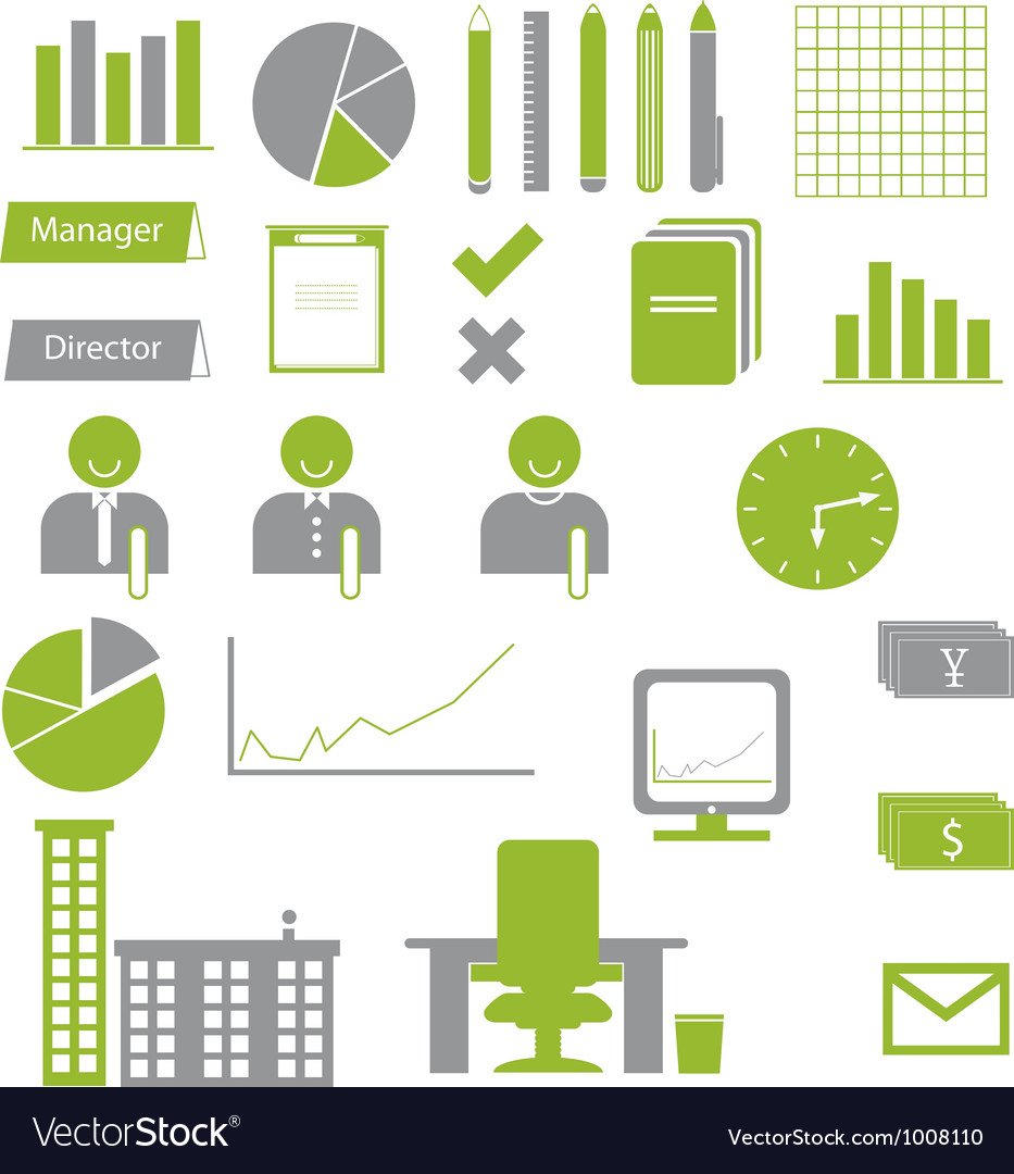 Business graph icons vector | Price: 1 Credit (USD $1)
