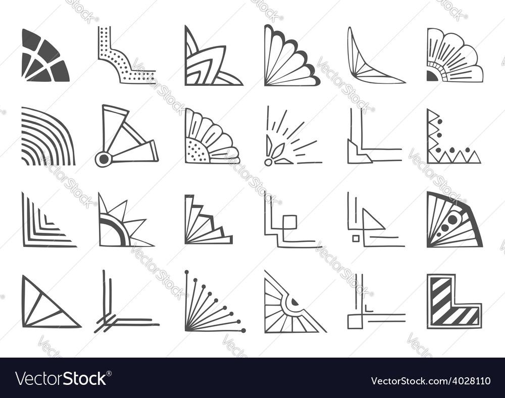 Corners elements vector