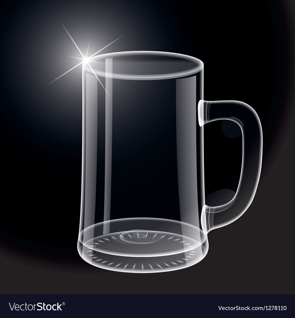 Empty beer glass vector | Price: 1 Credit (USD $1)