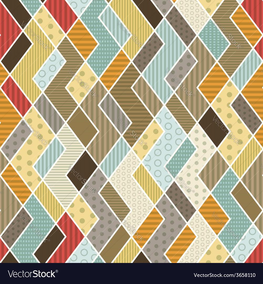 Geometric patchwork pattern vector   Price: 1 Credit (USD $1)