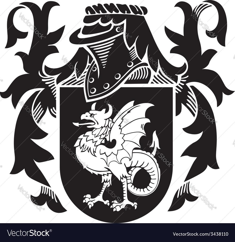 Heraldic silhouette no10 vector | Price: 1 Credit (USD $1)