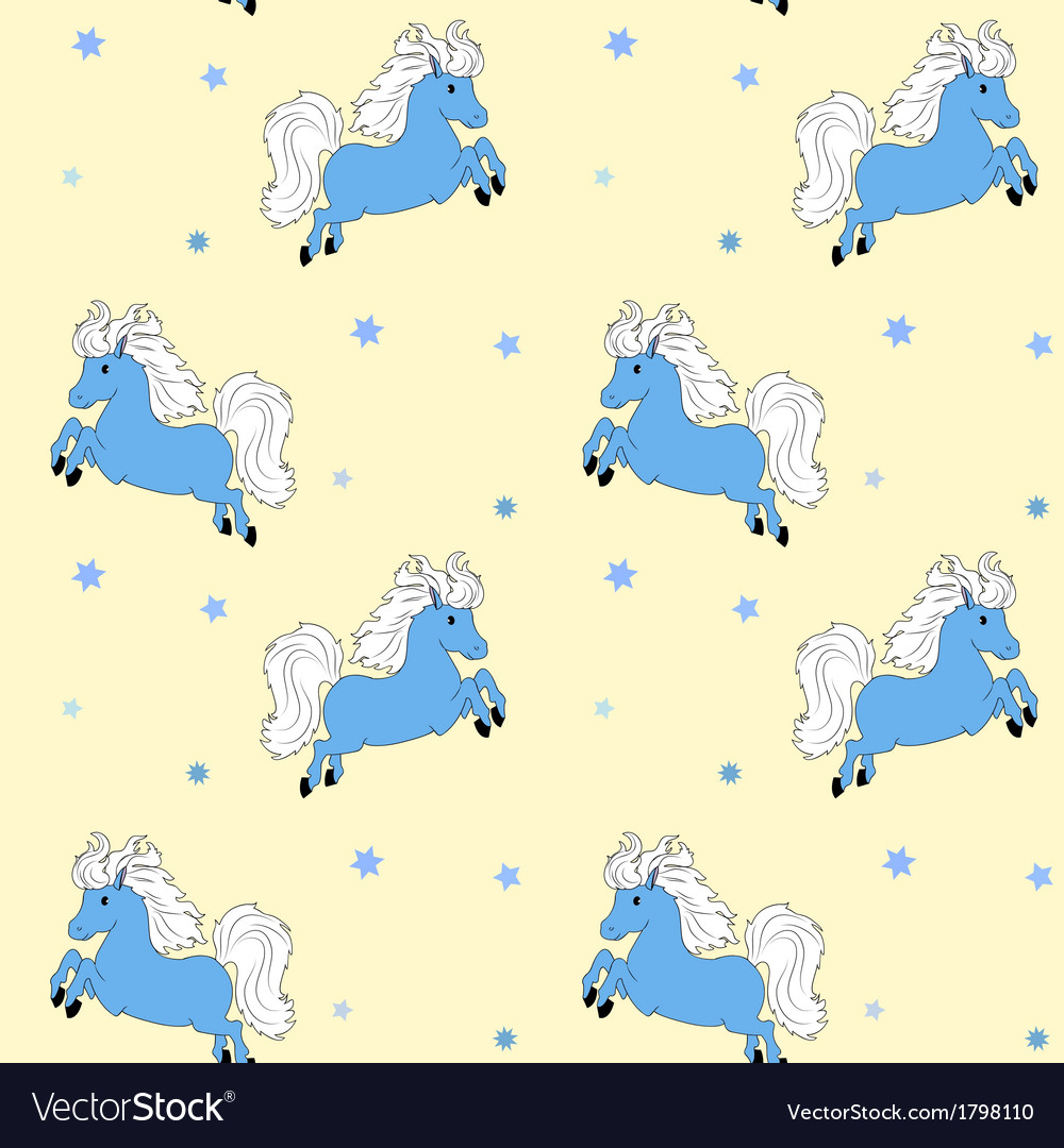 Little blue horse vector | Price: 1 Credit (USD $1)