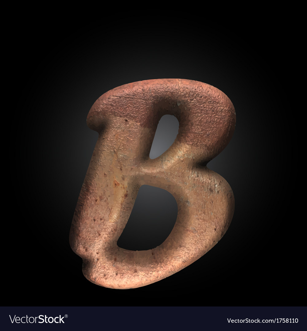 Old metal letter vector | Price: 1 Credit (USD $1)