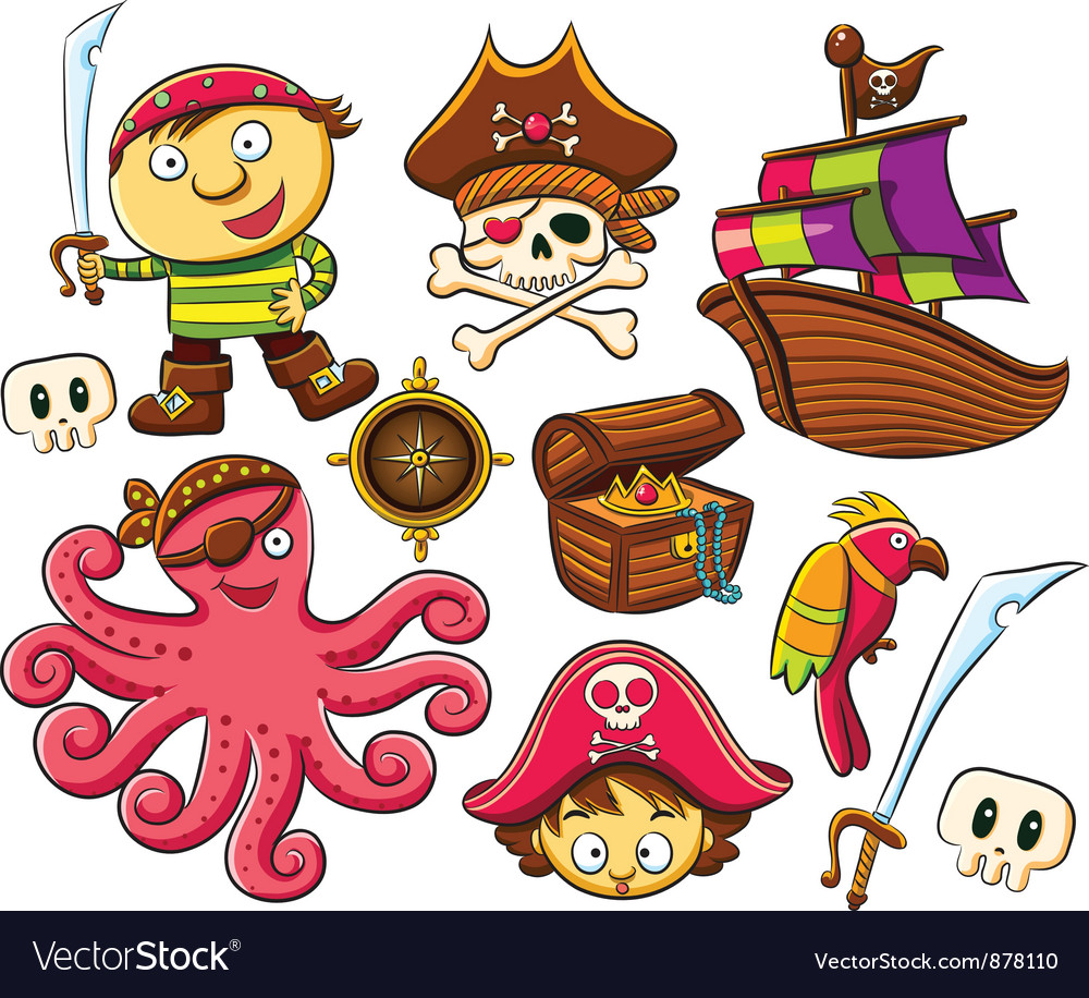 Pirate collection set vector | Price: 5 Credit (USD $5)