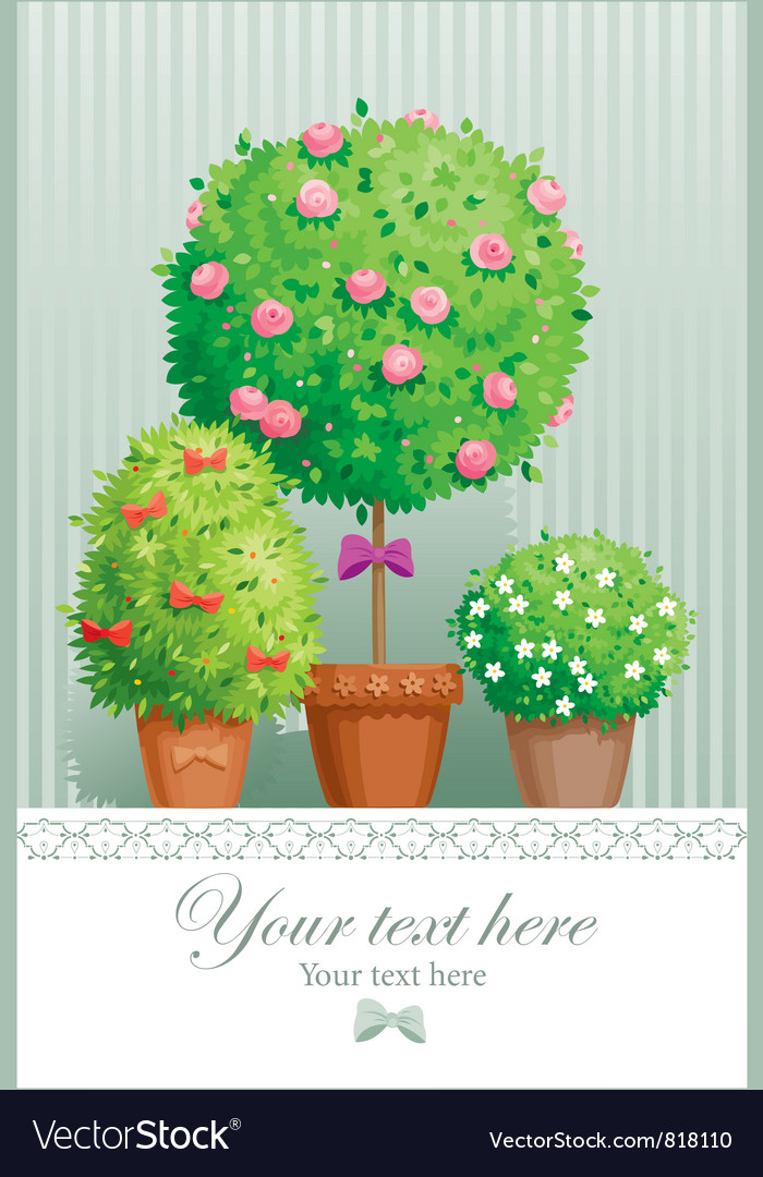 Pot flowers vector | Price: 3 Credit (USD $3)