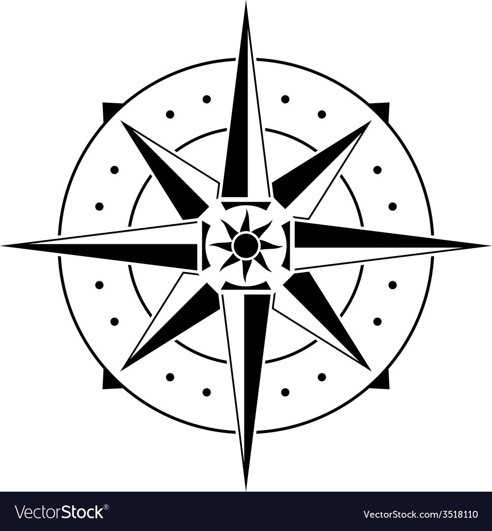 Stencil of compass vector | Price: 1 Credit (USD $1)