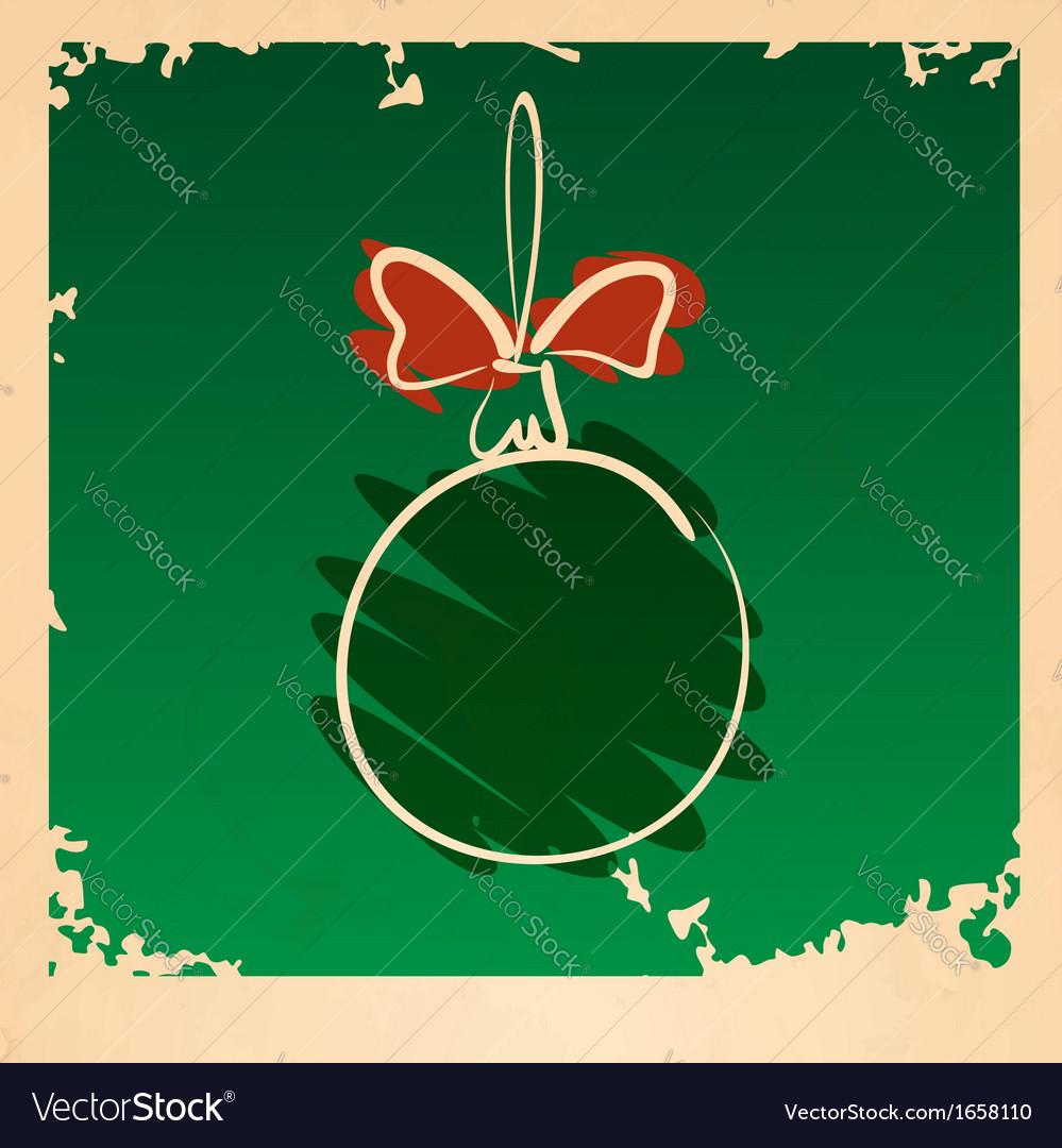 Vintage christmas ball vector   Price: 1 Credit (USD $1)