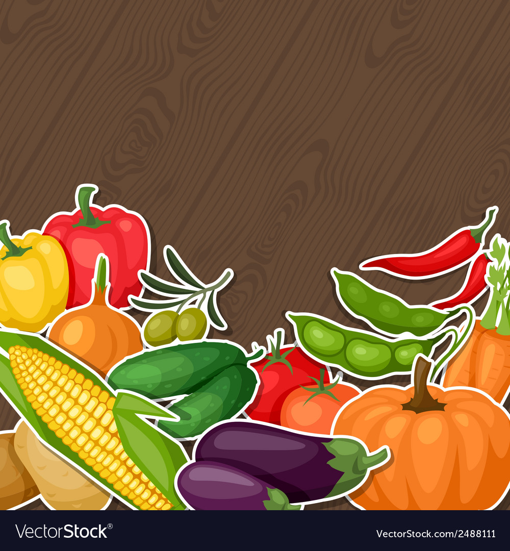 Background design with fresh ripe stylized vector | Price: 1 Credit (USD $1)