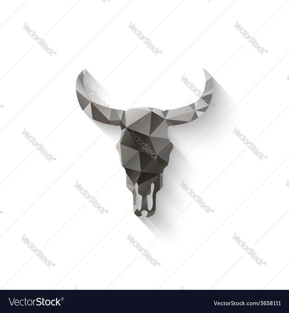 Bull skull triangle vector | Price: 1 Credit (USD $1)