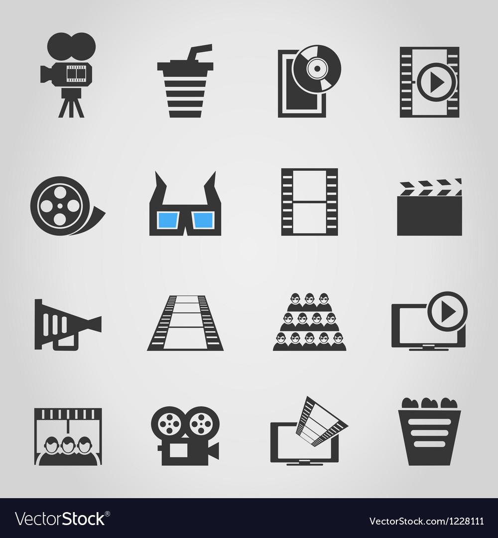 Cinema icons4 vector | Price: 1 Credit (USD $1)