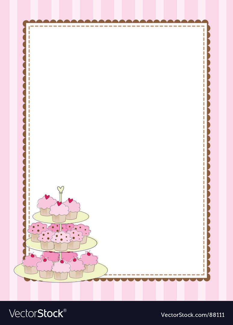 Cupcake border vector | Price: 1 Credit (USD $1)