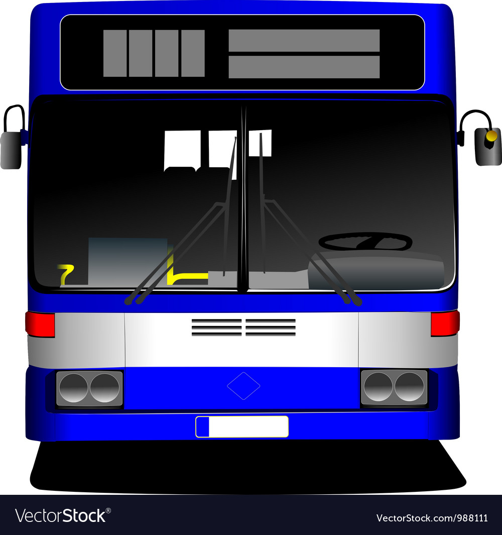 Front view of bus vector | Price: 1 Credit (USD $1)