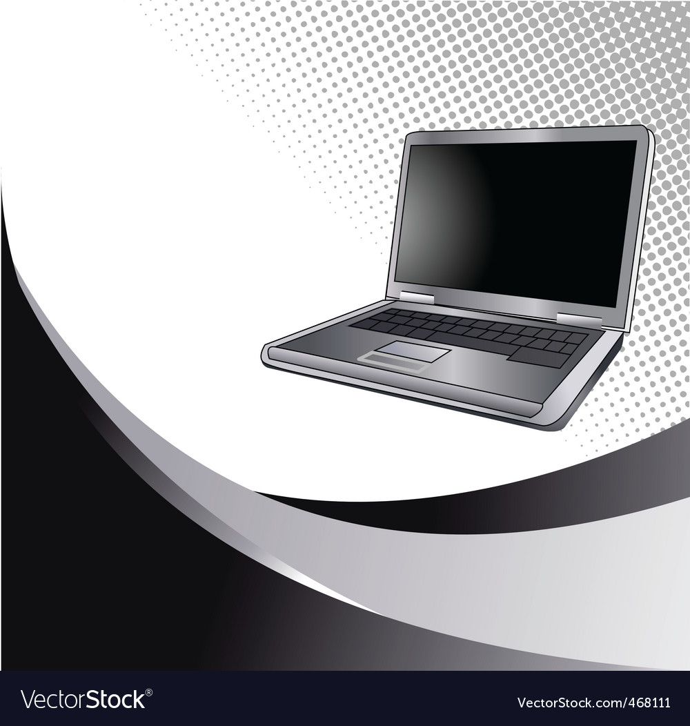 Laptop2 vector | Price: 1 Credit (USD $1)