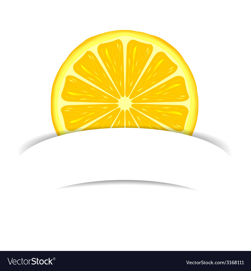 Lemon with paper banner vector | Price: 1 Credit (USD $1)