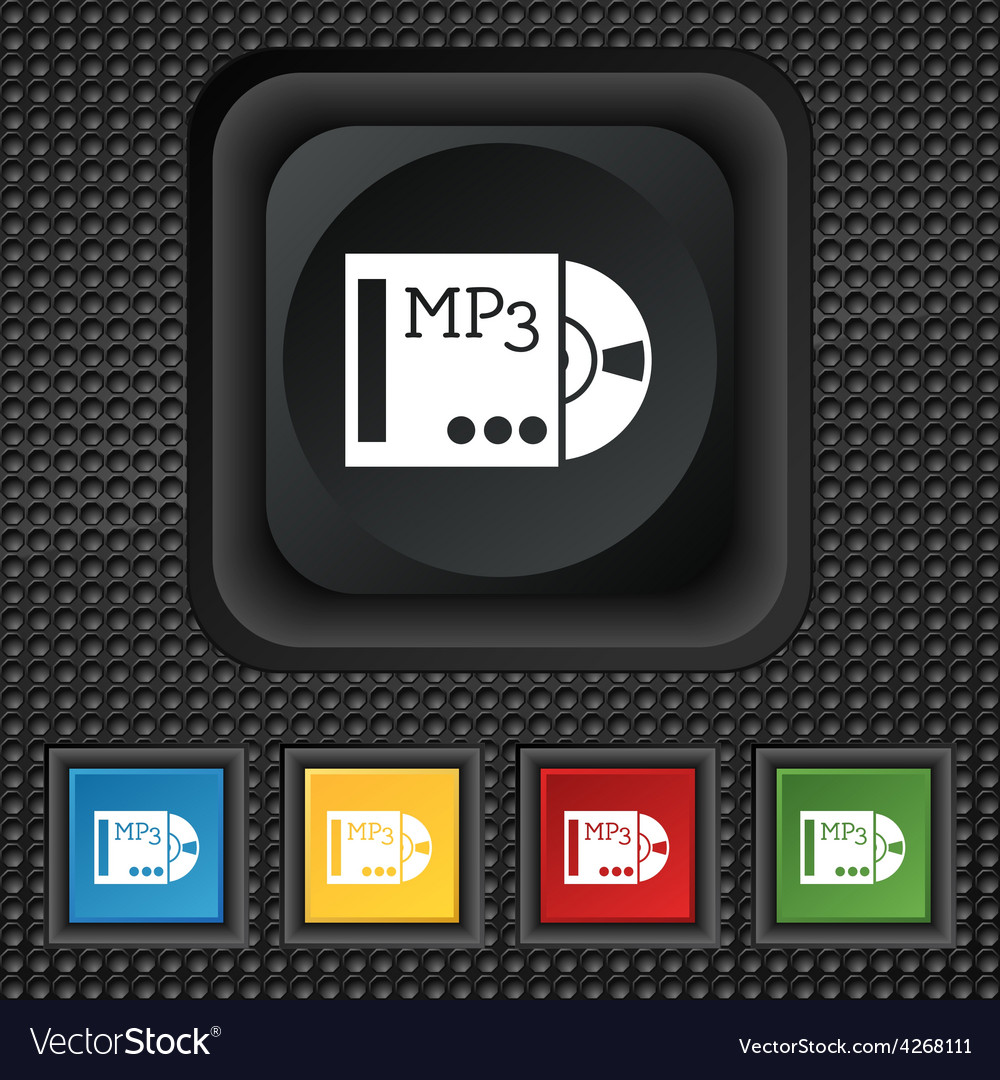Mp3 player icon sign symbol squared colourful vector | Price: 1 Credit (USD $1)