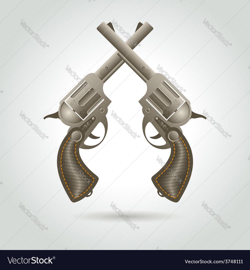 Revolver gun weapon element vector | Price: 1 Credit (USD $1)