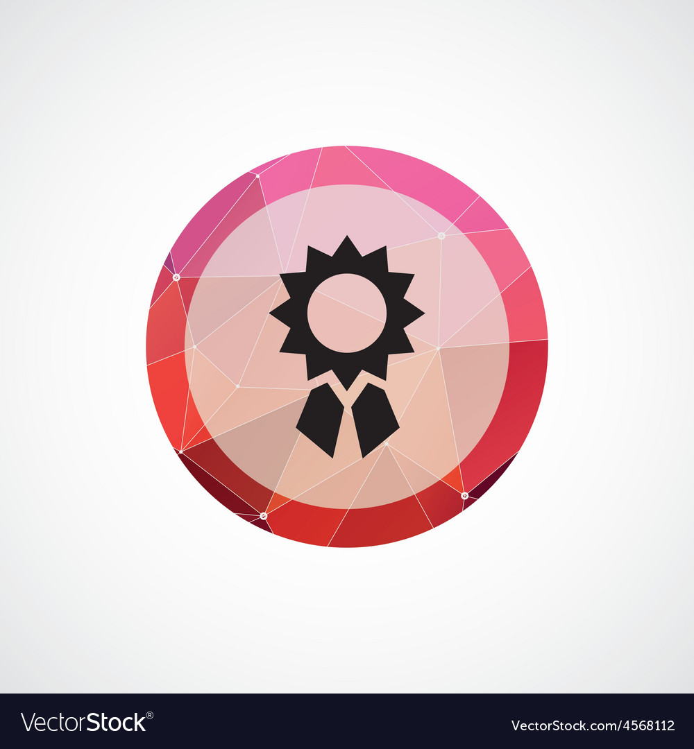 Achievement circle pink triangle background icon vector | Price: 1 Credit (USD $1)