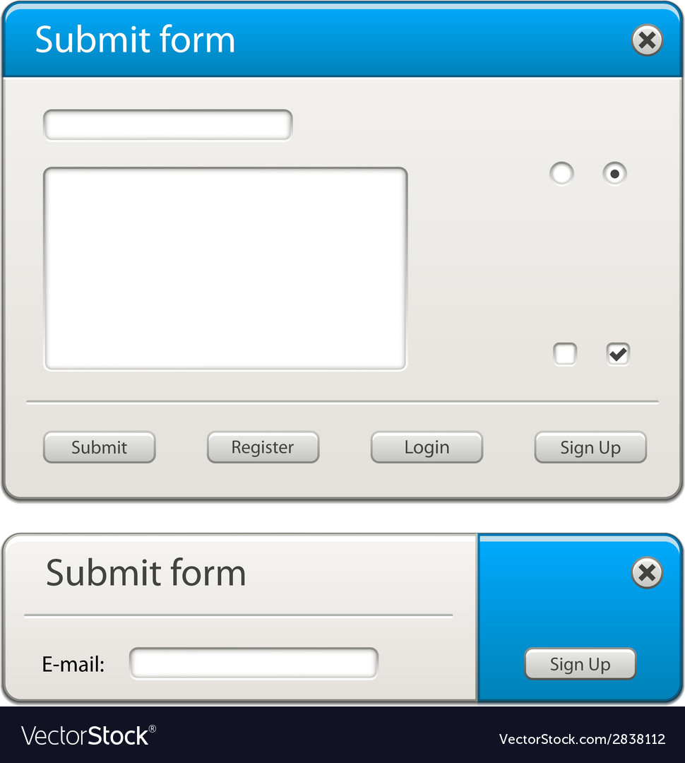 Form elements - easy change any width or height vector | Price: 1 Credit (USD $1)