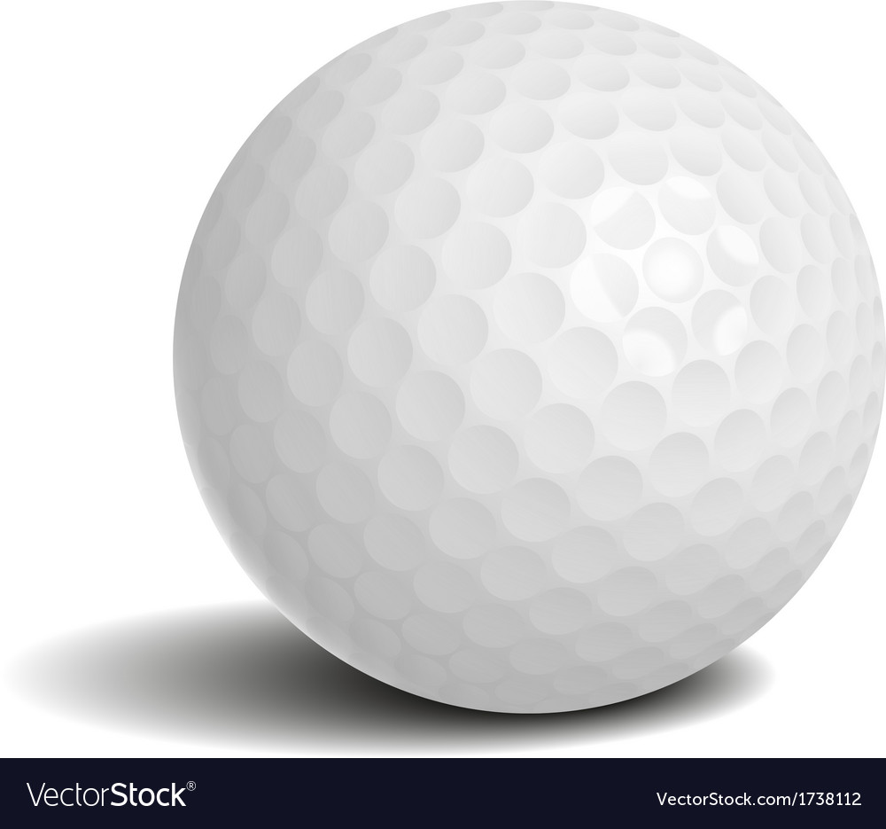 Golf ball with shadow vector | Price: 1 Credit (USD $1)