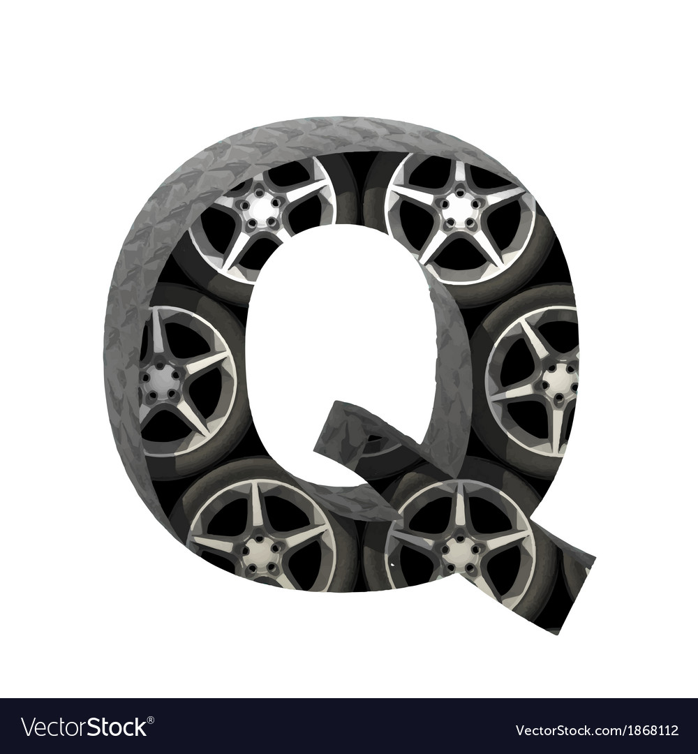 Metal and wheels cutted figure q paste to any vector   Price: 1 Credit (USD $1)