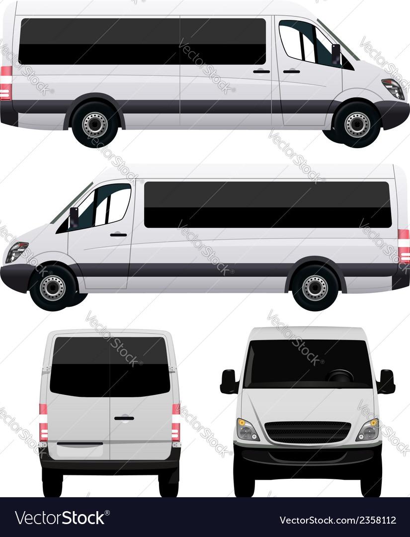 Passenger van - minibus vector | Price: 1 Credit (USD $1)