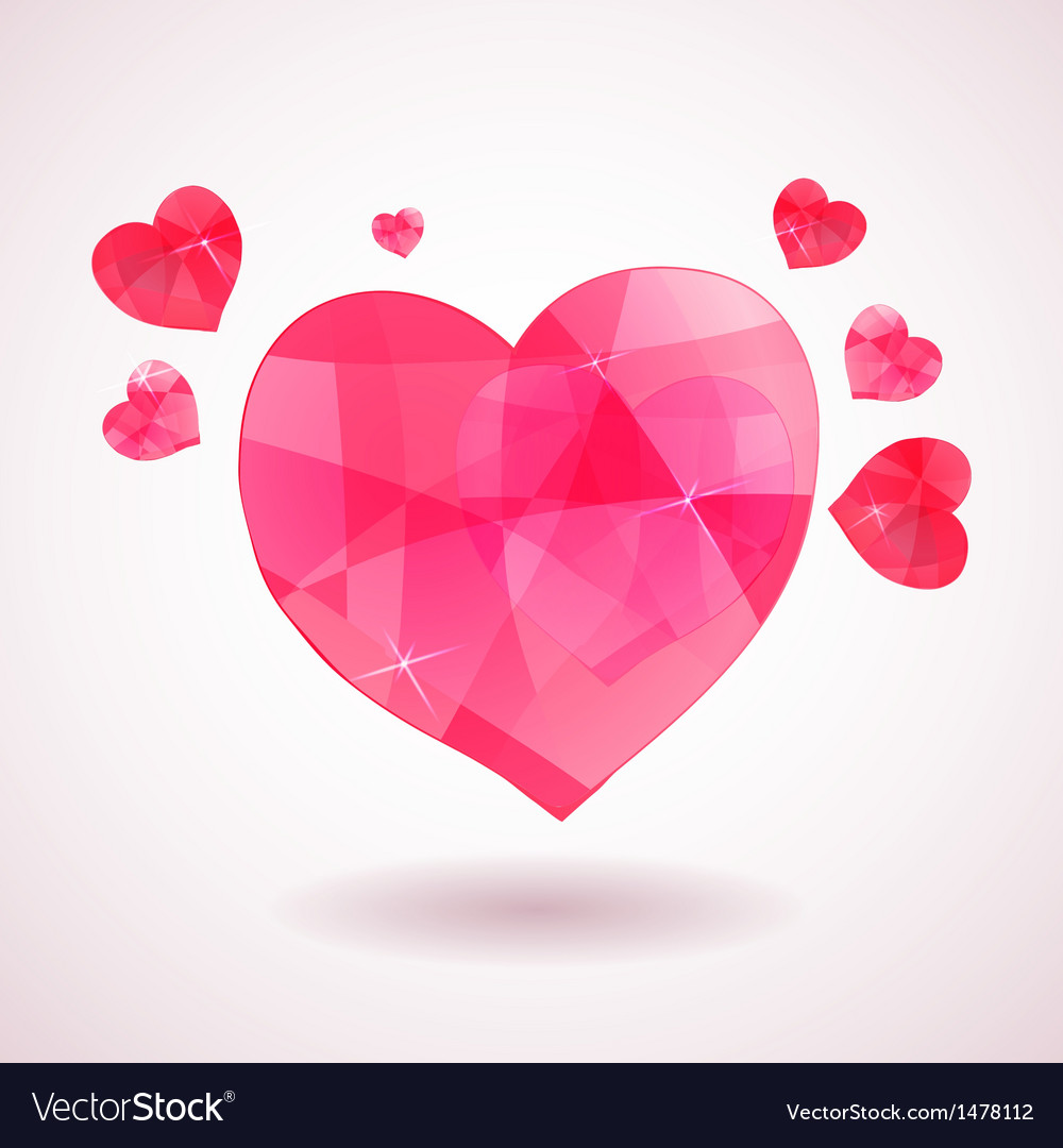 Pink geometric heart vector | Price: 1 Credit (USD $1)