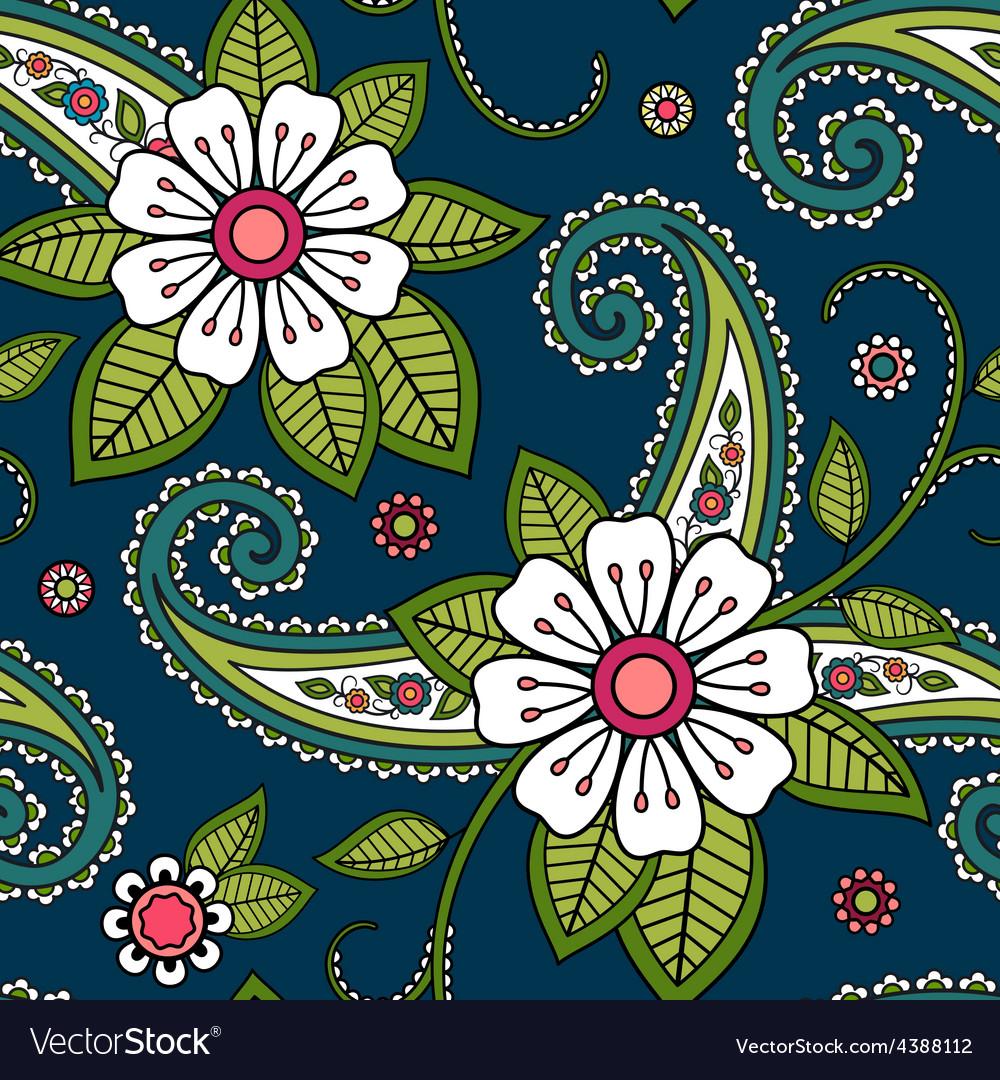 Seamless flower pattern vector   Price: 1 Credit (USD $1)
