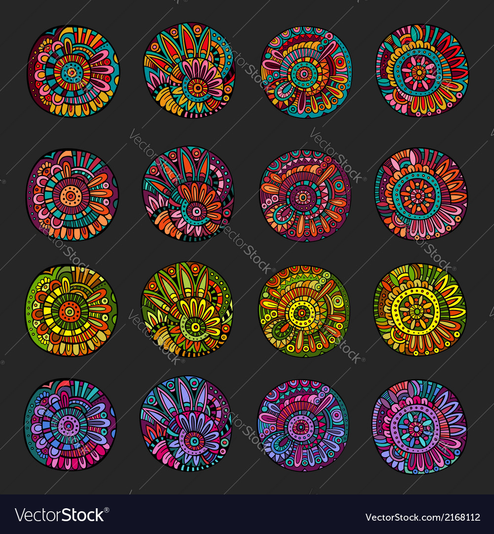 Set of decorative design elements vector | Price: 1 Credit (USD $1)