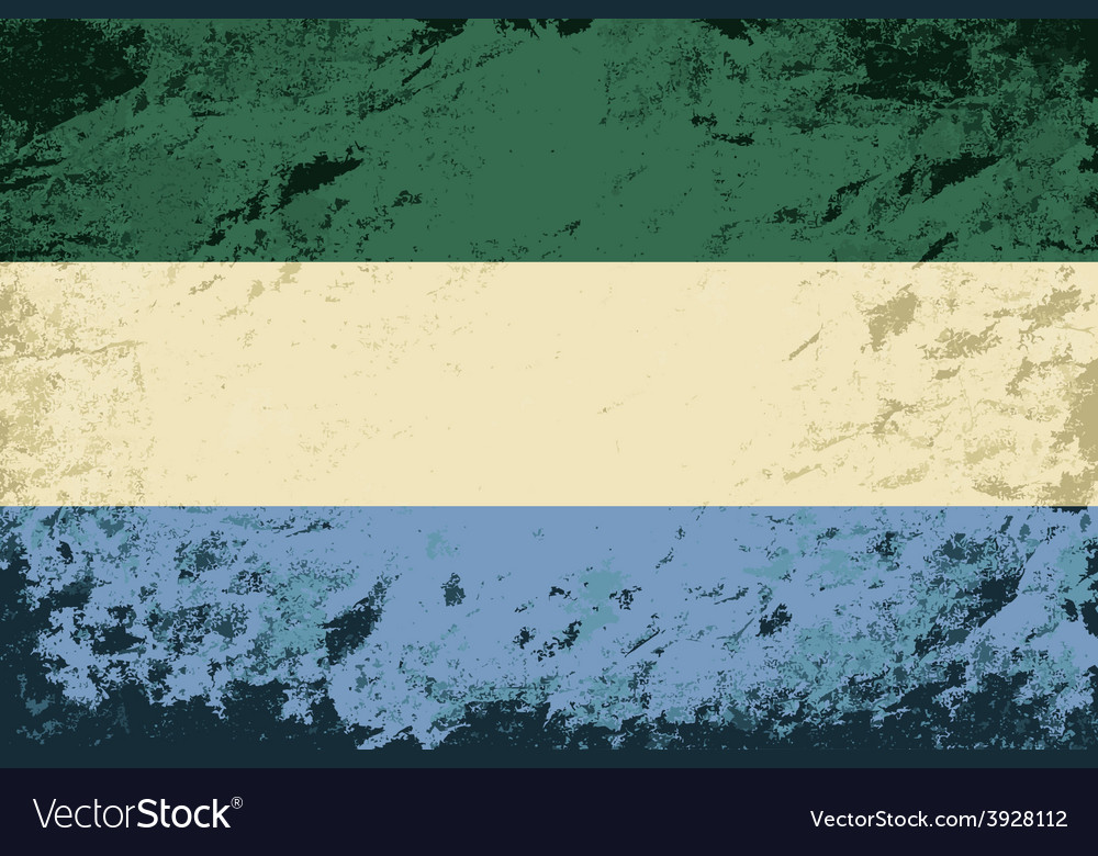 Sierra leone flag grunge background vector | Price: 1 Credit (USD $1)
