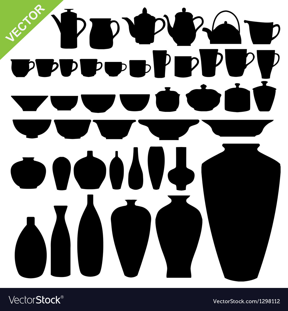 Tableware silhouette vector | Price: 1 Credit (USD $1)