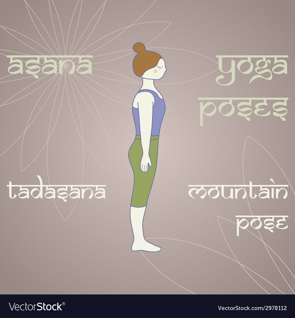 Tadasana vector | Price: 1 Credit (USD $1)