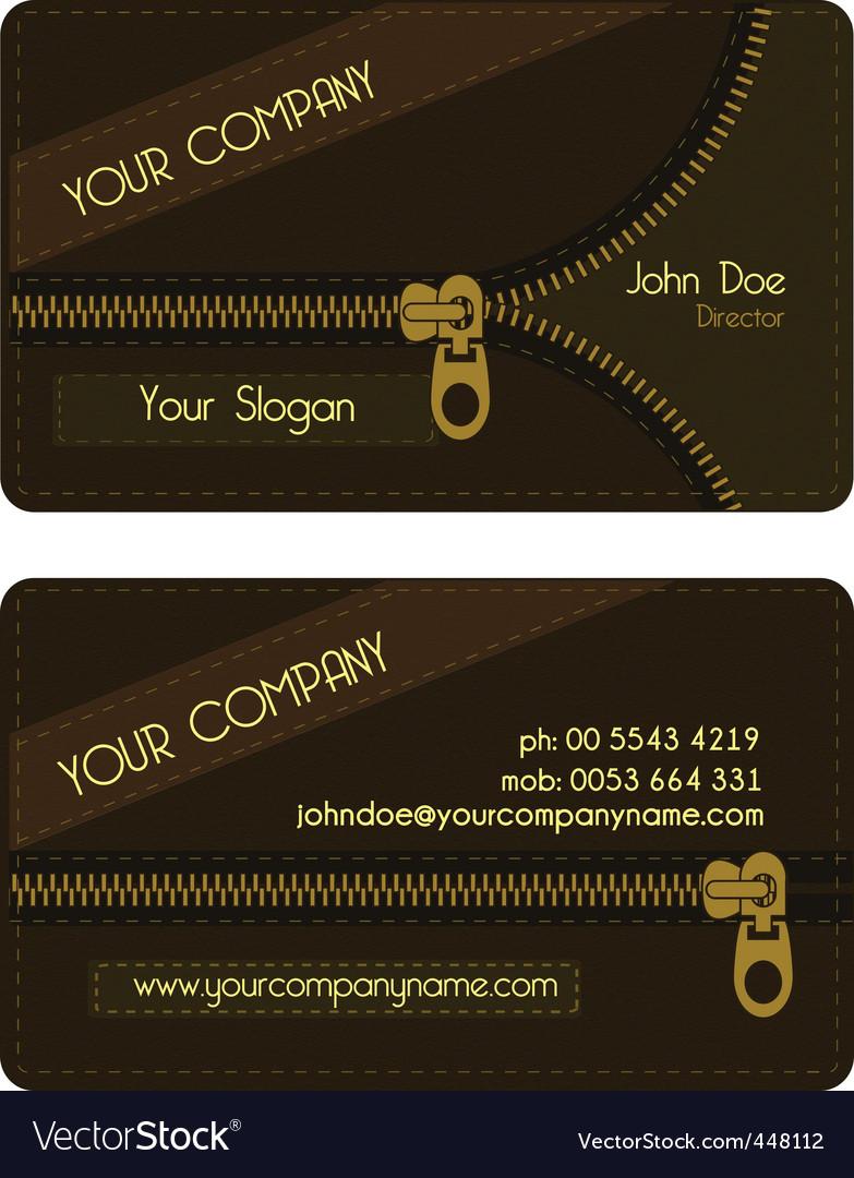 Zipper business card vector | Price: 1 Credit (USD $1)