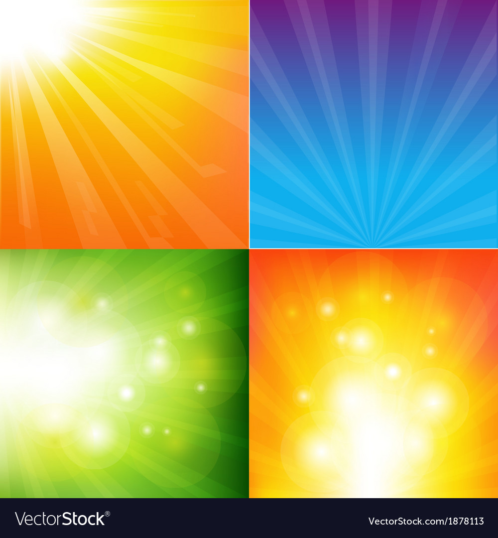 Abstract color sunburst background vector | Price: 1 Credit (USD $1)