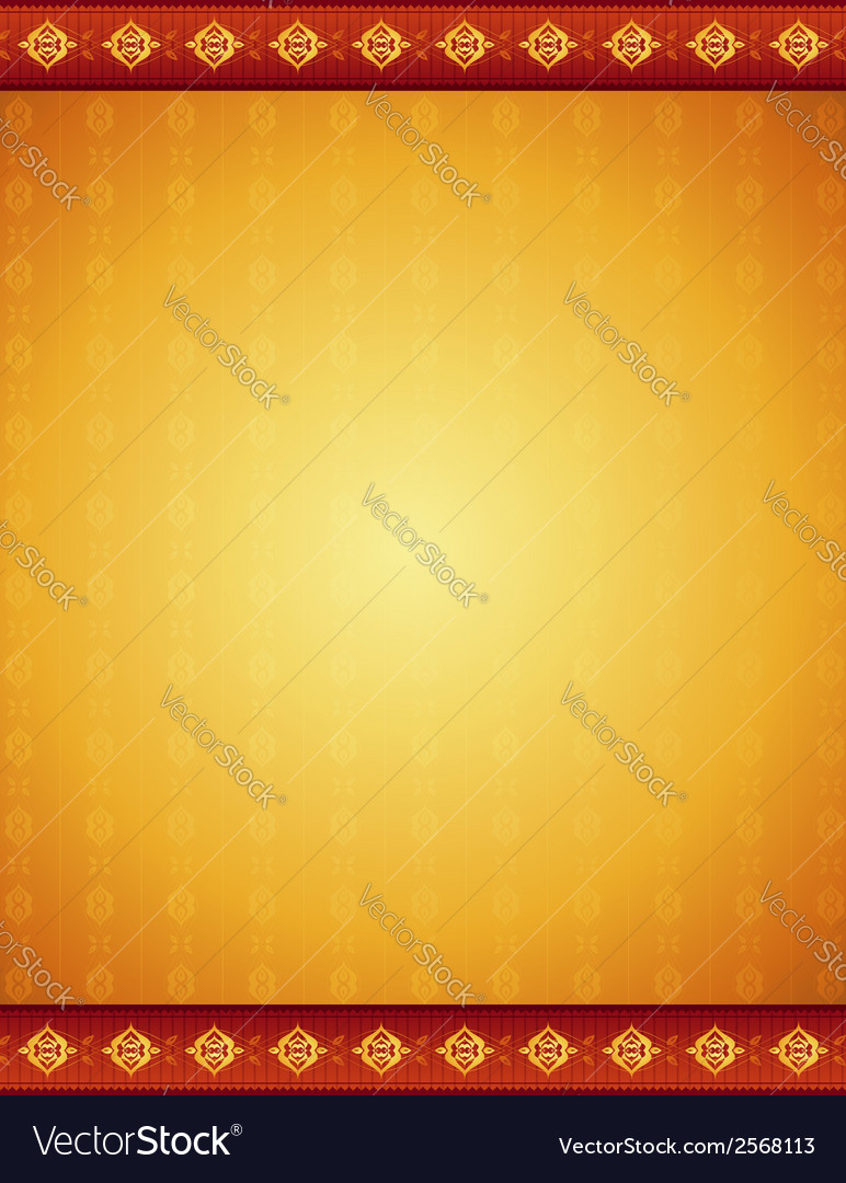 Ancient golden background with decorative ornament vector | Price: 1 Credit (USD $1)