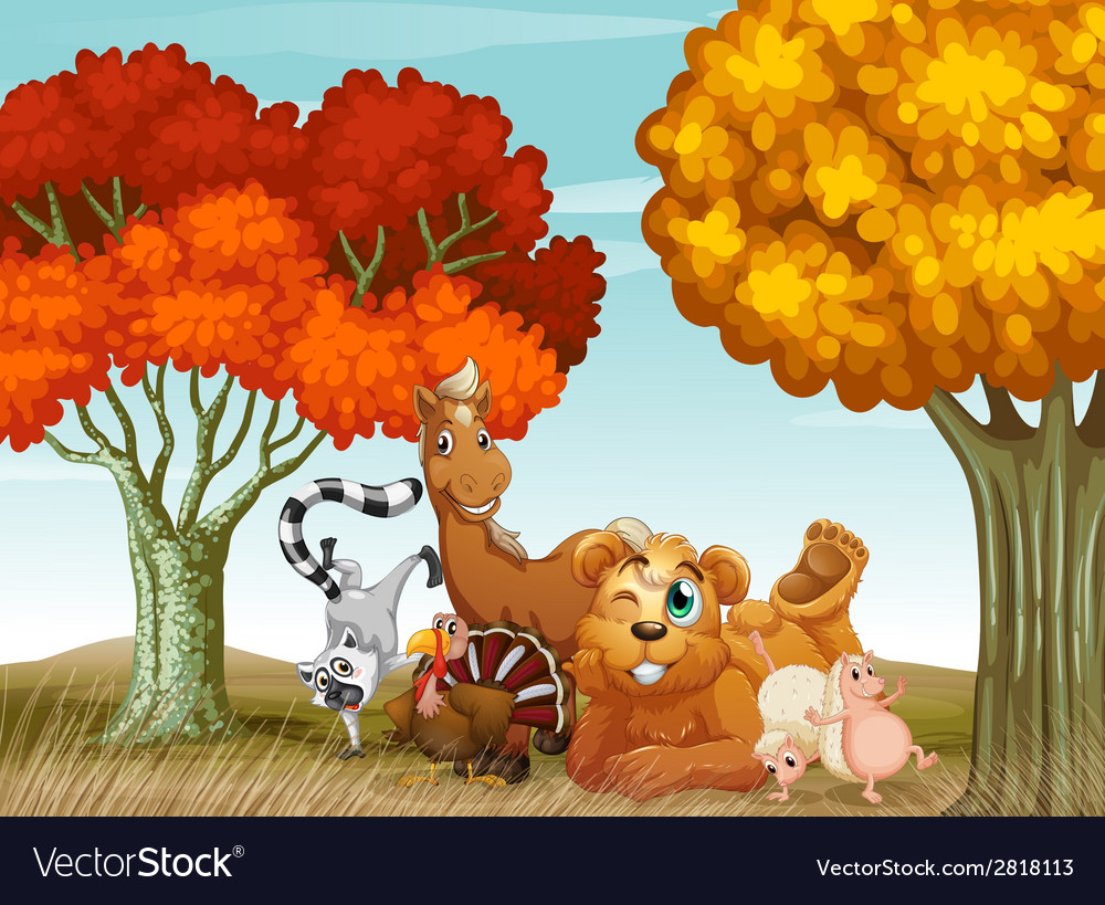 Animals spring time vector | Price: 3 Credit (USD $3)