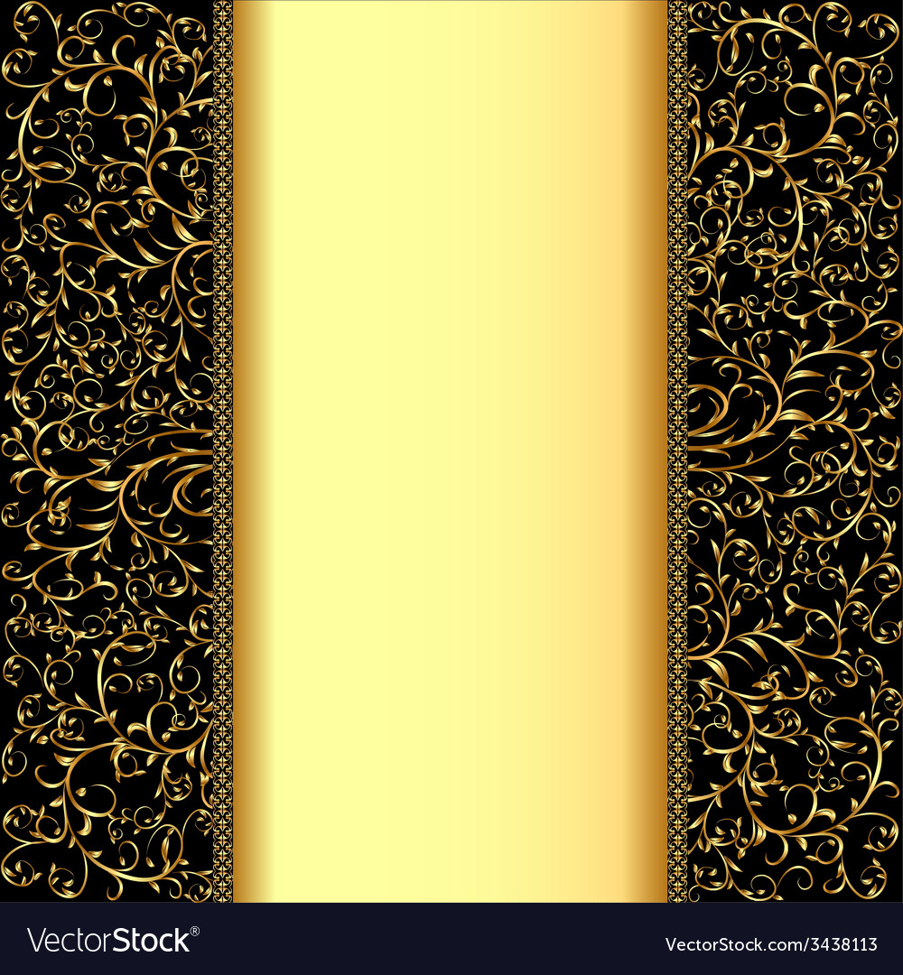 Background with gold ornaments and strip for vector | Price: 1 Credit (USD $1)