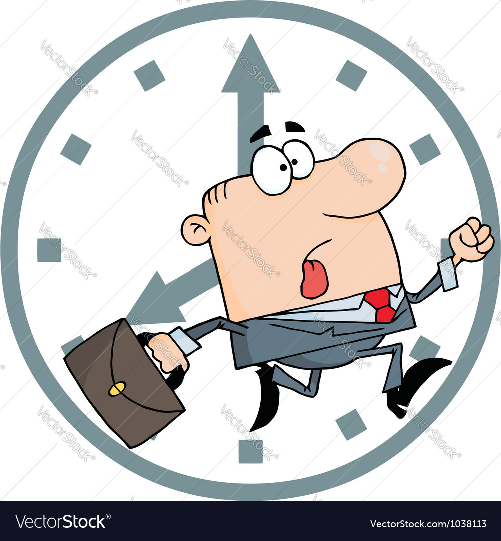 Businessman late for work vector | Price: 1 Credit (USD $1)
