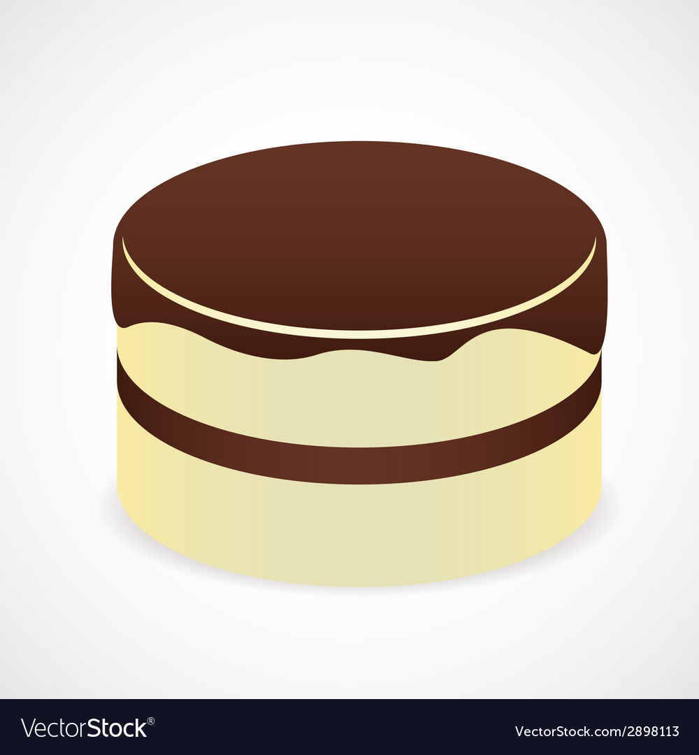 Cake with chocolate icing vector | Price: 1 Credit (USD $1)