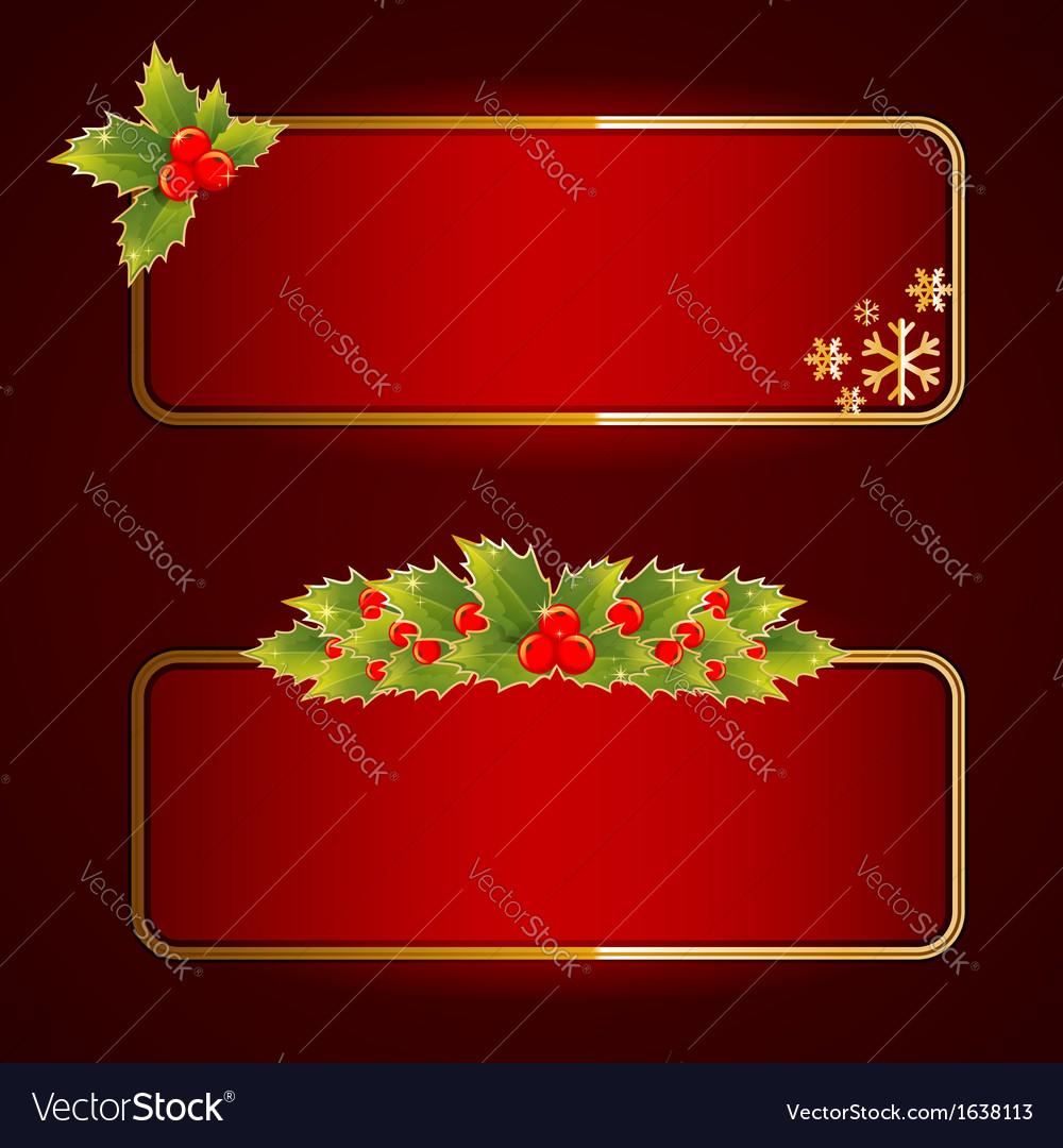 Christmas bright blank festive banners set vector | Price: 1 Credit (USD $1)