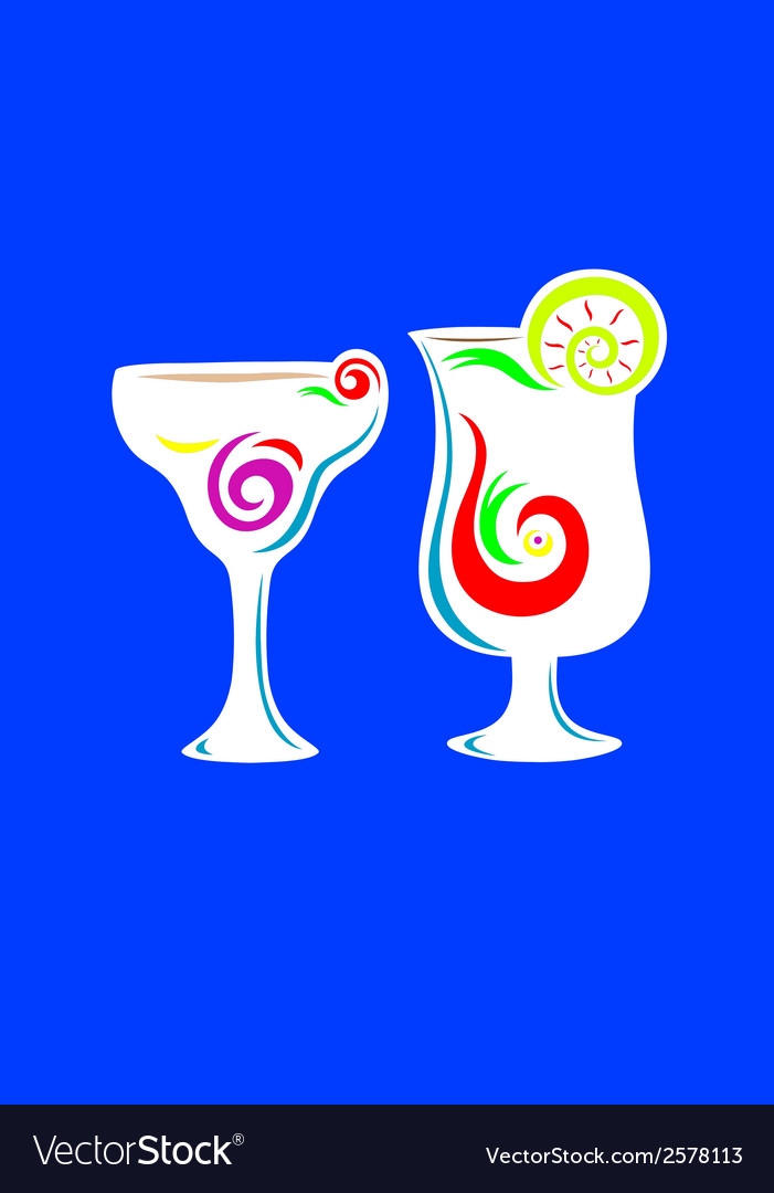 Cocktail summer party glass vector | Price: 1 Credit (USD $1)