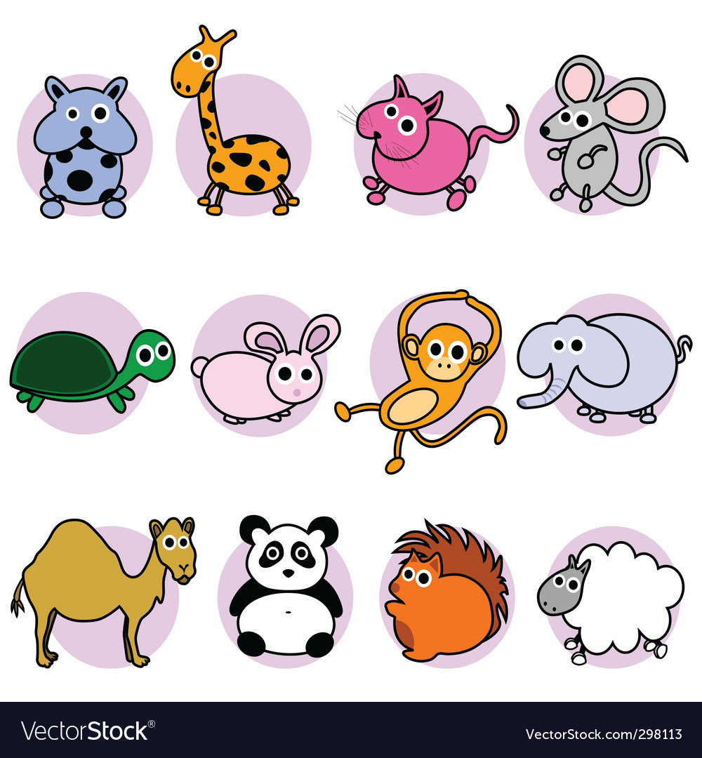 Cute animal characters vector | Price: 1 Credit (USD $1)