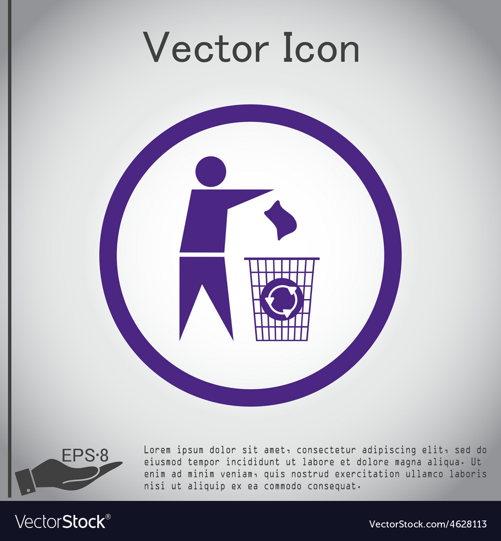 Do not litter vector | Price: 1 Credit (USD $1)
