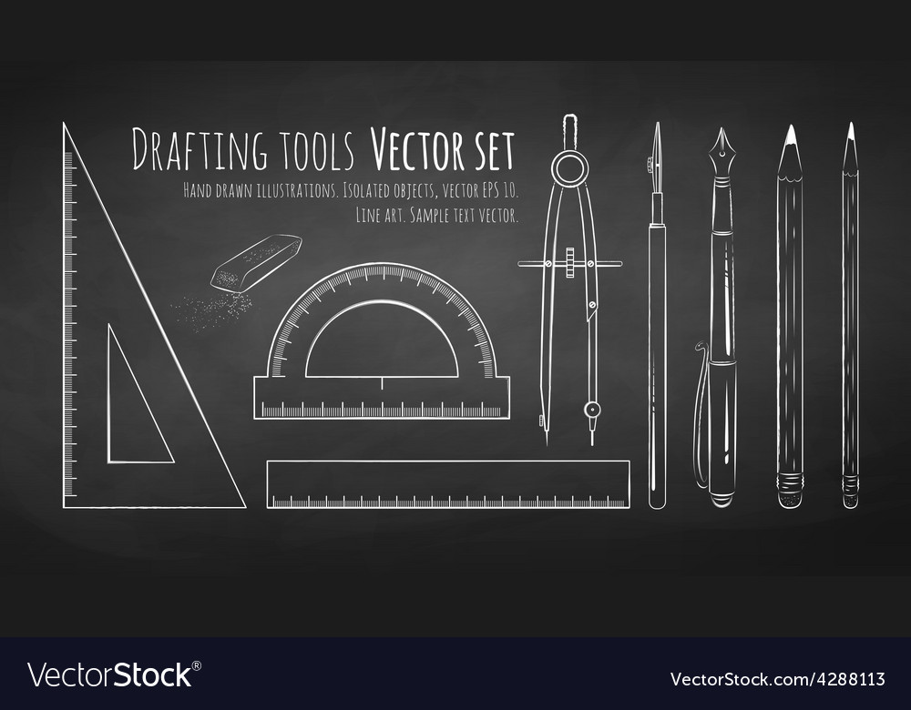 Drafting tools vector | Price: 1 Credit (USD $1)