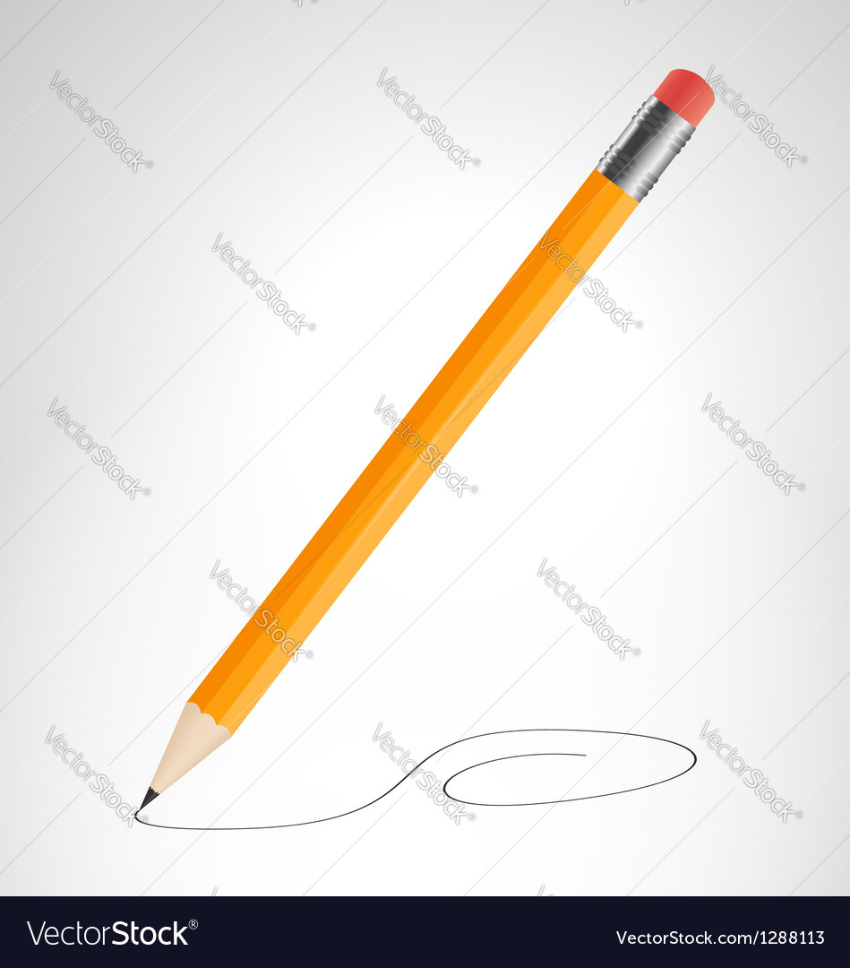 Pencil is drawing curve vector | Price: 1 Credit (USD $1)