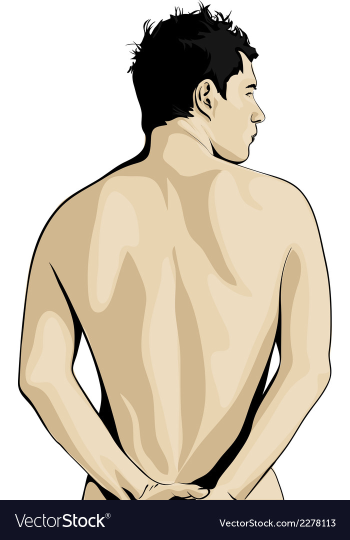 Rear view of man vector | Price: 1 Credit (USD $1)