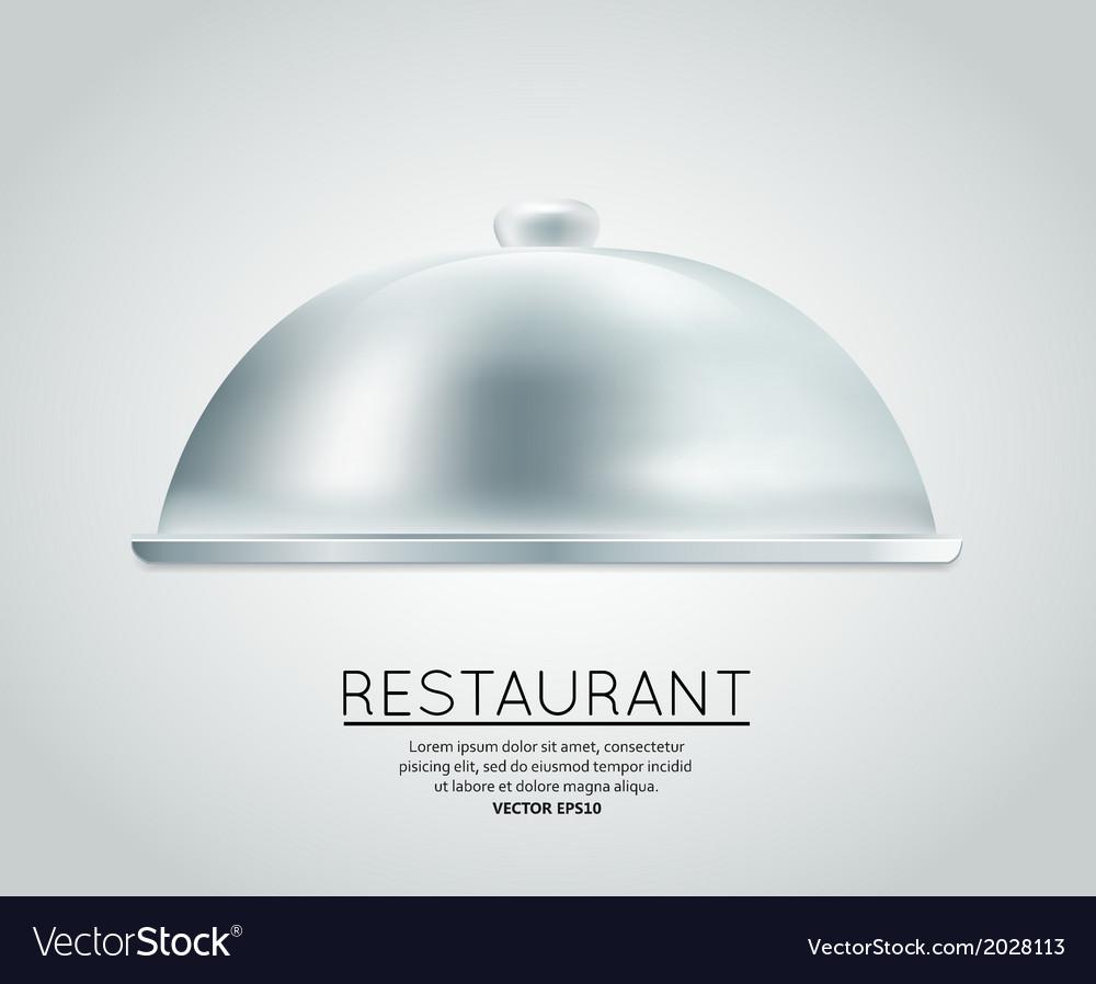 Restaurant cloche food tray vector   Price: 1 Credit (USD $1)