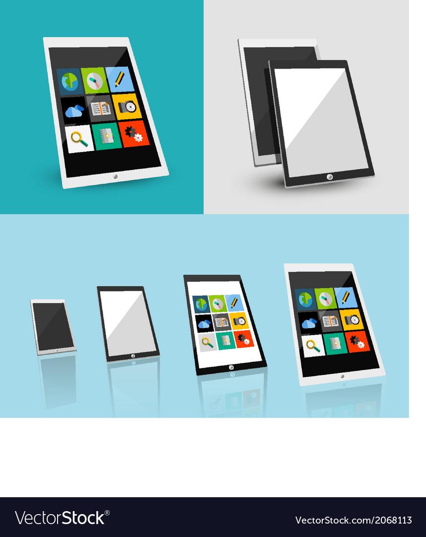 Tablet responsive flat ui design vector | Price: 1 Credit (USD $1)