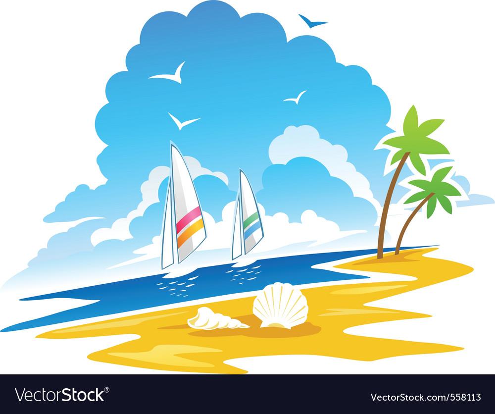 Tropical coastline vector   Price: 1 Credit (USD $1)