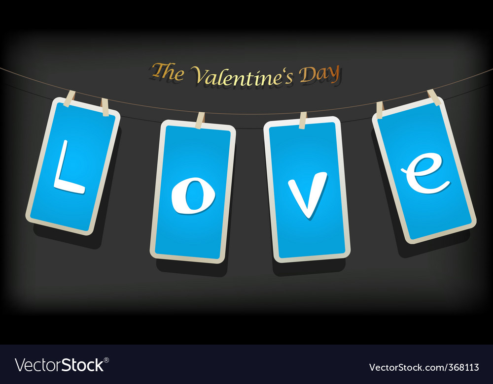 Valentine hanging labels vector | Price: 1 Credit (USD $1)